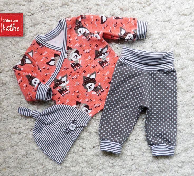 Babyset: Minibuxe, Trotzkopf und Knotenmütze