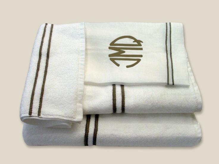 Juegos de toallas con feston de color