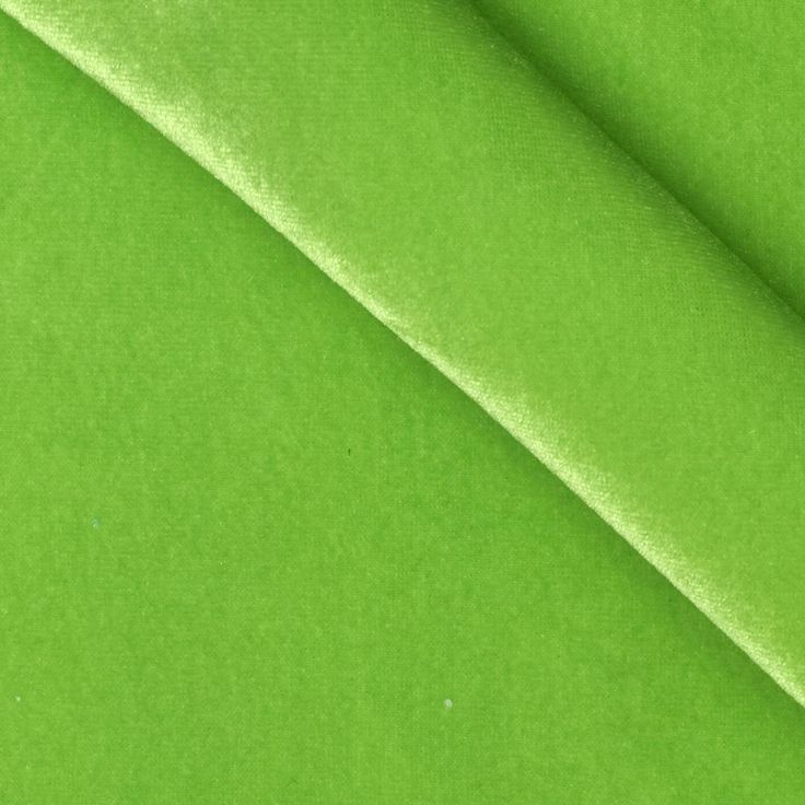 on sale Stretch Velvet Knit Lime from @fabricdotcom  Turn heads in this luxurious medium weight velvet knit fabric. Fabric has an ultra soft napped hand, fluid drape and 15% stretch across the grain. This stylish fabric is perfect for tops, skirts, dresses, costumes, dancewear and more.