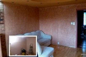 "Look at ""Before & After"" change this living room!  Creative walls"