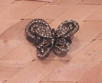 Golden brown butterfly hair clip