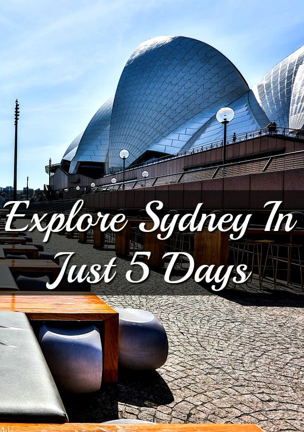 As you might expect, there is much to see and do in Sydney. The city is full of tourist attractions, world-famous landmarks, and, of course, it's also a cultural melting pot. You might not realise it, but it's possible to see the best of what Sydney has to offer in just five days!