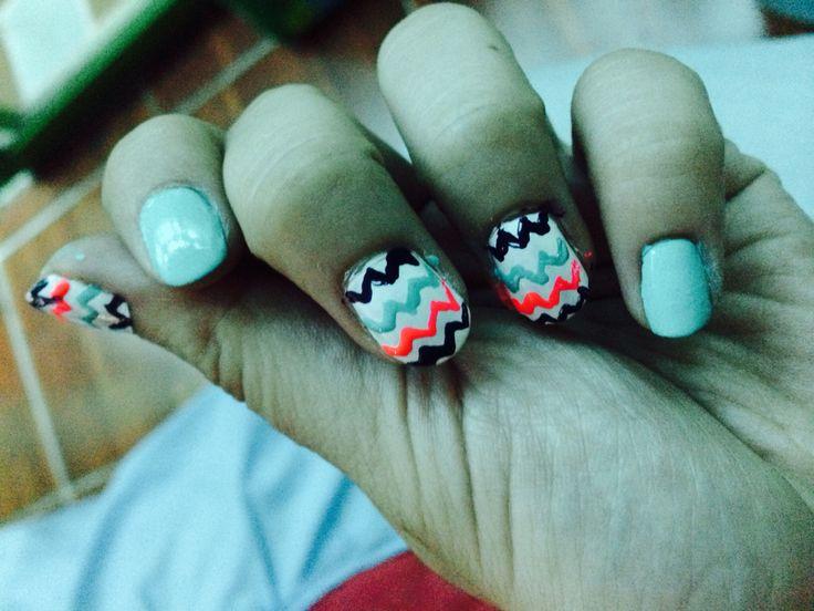 Mejores 28 imágenes de uñas de rayas en Pinterest | Uñas bonitas ...