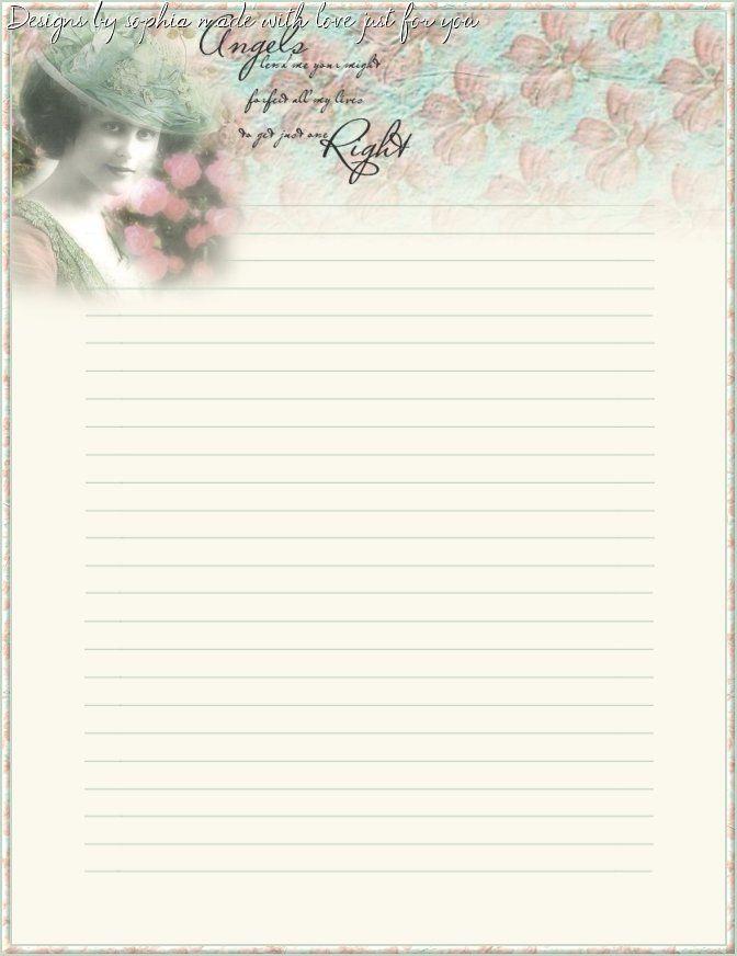 My printable stationary Creations - Sophia Designs PenPal Stationery
