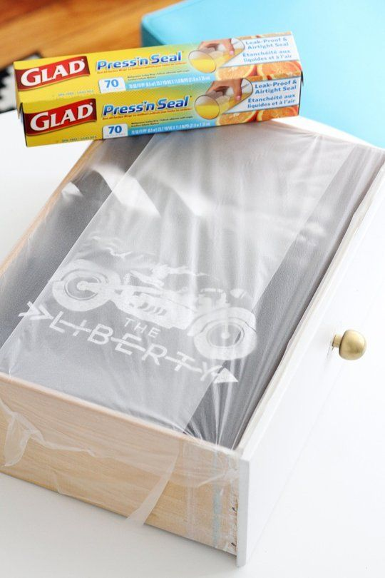 Cover your full drawers with press & seal wrap and you don't have to pack your clothes!