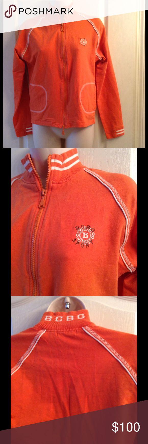 BCBGMAXAZRIA L Comfortable Orange jacket Jackets & Coats