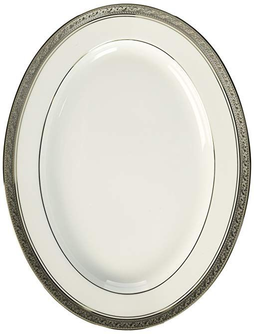 Noritake Crestwood Platinum 12 Inch Oval Platter Review Find This Pin And More On Serving Dishes