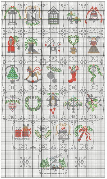 CUORE E BATTICUORE Shabby Advent Calendar
