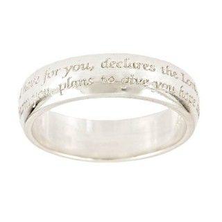 Jeremiah 29:11   14 Karat Gold Ring. My  2 year anniversary gift to David, Maybe. <3