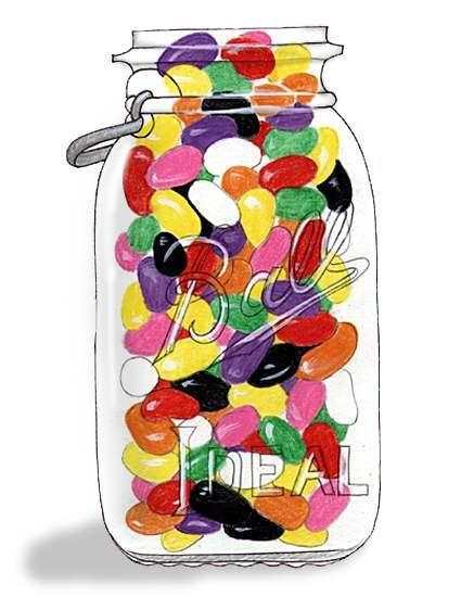 . |Jelly Bean Jar Clipart