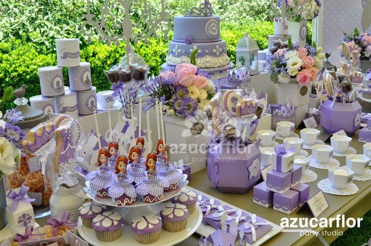 mesa de dulces sofia the first ideas party princesa sofia