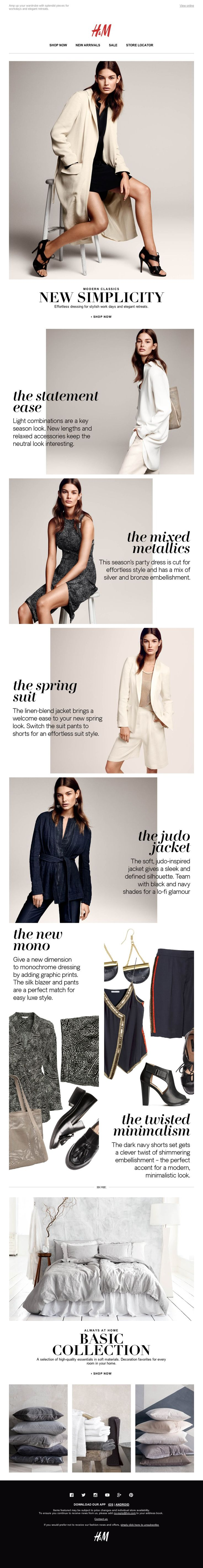 H&M - An elegant hint of spring