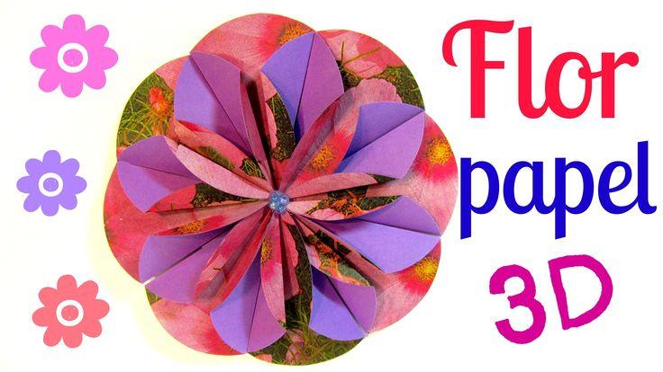 Tutorial. Flores de papel (Dahlia). Paper flower.