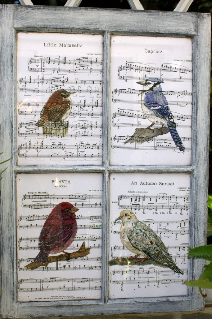 Recycled Window Picture Frame Turn some art prints and an old window into unique repurposed art!
