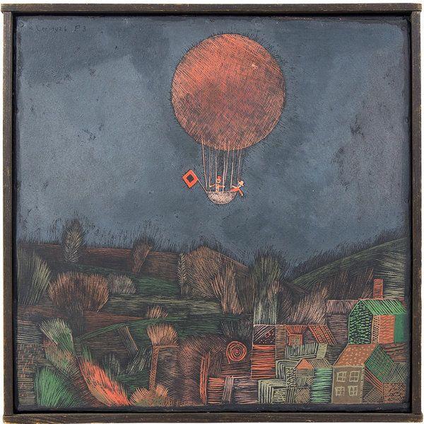 """The Balloon"" 1926 Paul Klee. Oil on primed cardboard."