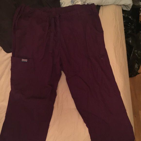 Purple size xl scrub uniform pant Like new purple scrub uniform pant size xl offers welcome fast shipping smoke free pet free home Cherokee Pants