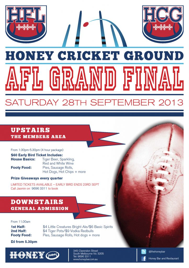 2013 AFL Grand Final - Honey Bar