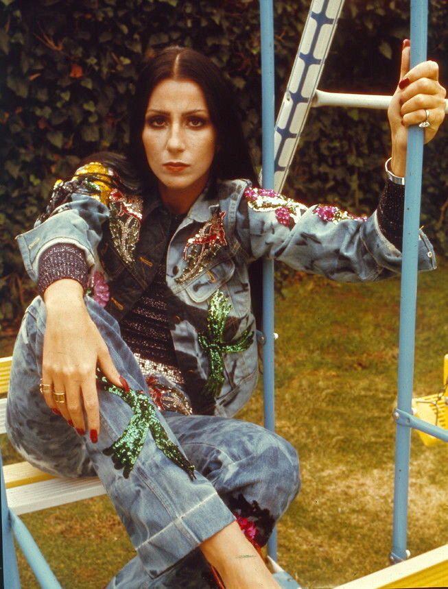Cher 1972 denim embellished 1970 authentic