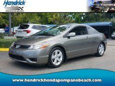 Used 2007 Honda Civic EX Coupe for sale in Pompano Beach, FL 33064
