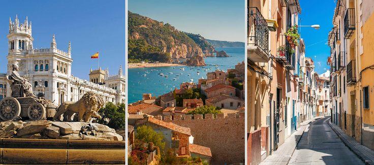 Muhteşem mimarisi, yüzyıllık eserlere ev sahipliği yapan sanat merkezleri, eşsiz denizi, plajları ve tabii ki lezzetli yemekleri... Madrid, Barcelona ve Valencia, İspanya'nın ihtişamına tanıklık etmek isteyenlerin mutlaka görmesi gereken üç dev şehir. Peki, bu üç şahane Akdeniz şehrini nasıl gezmeli; ne yiyip ne içmeli, alışverişi nereden yapmalı? Bir bir inceledik; en iyilerini sizin için derledik.