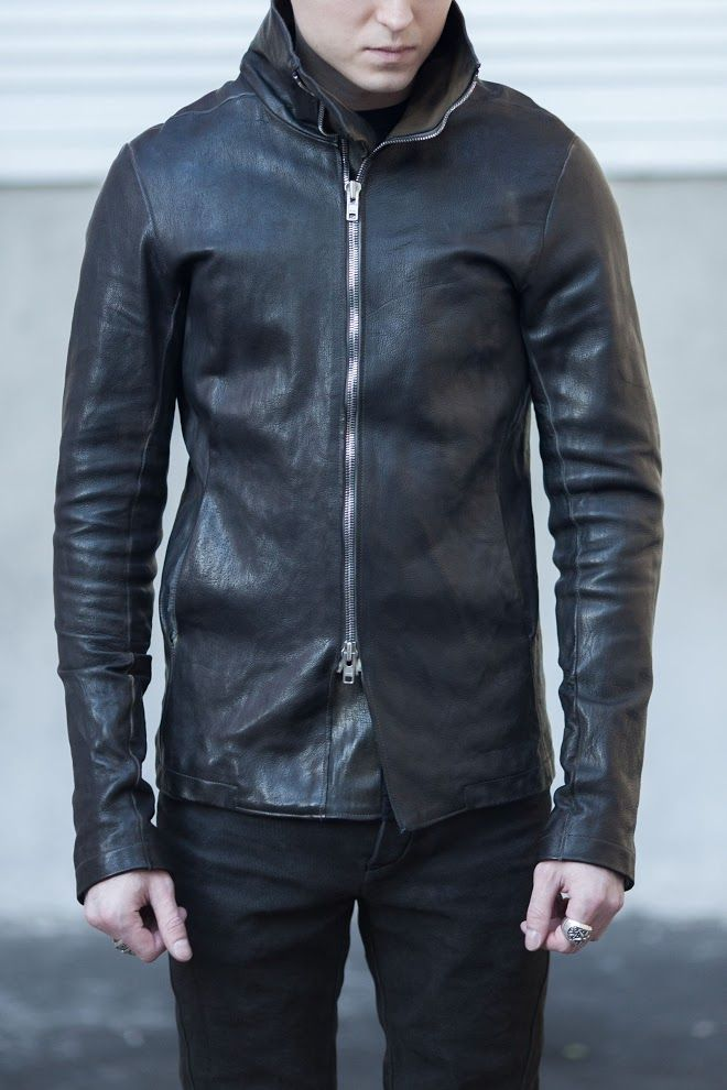 Augusta A1923 (A Diciannoveventitre) high collar leather jacket