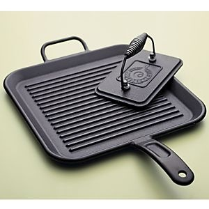 Lodge® Cast Iron Square Grill Pan in Griddles, Grill Pans   Crate and Barrel