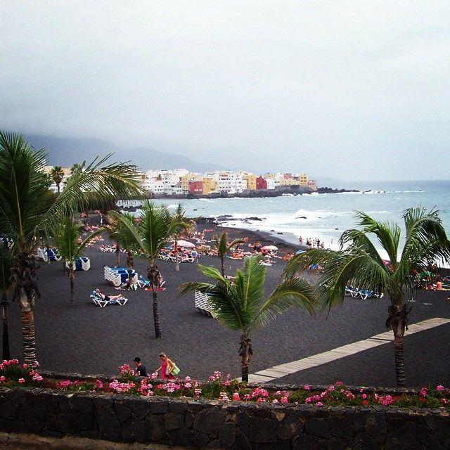 Black, volcanic sand near Puerto de la Cruz, #Tenerife #volcano #blacksand #travel #ReadySetHoliday
