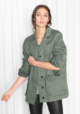 & Other Stories image 2 of Camo Jacket in Khaki Green