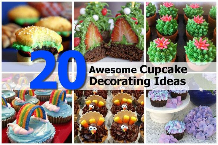 20 Super Cool Cupcake Decorating Ideas..... I gotta try these