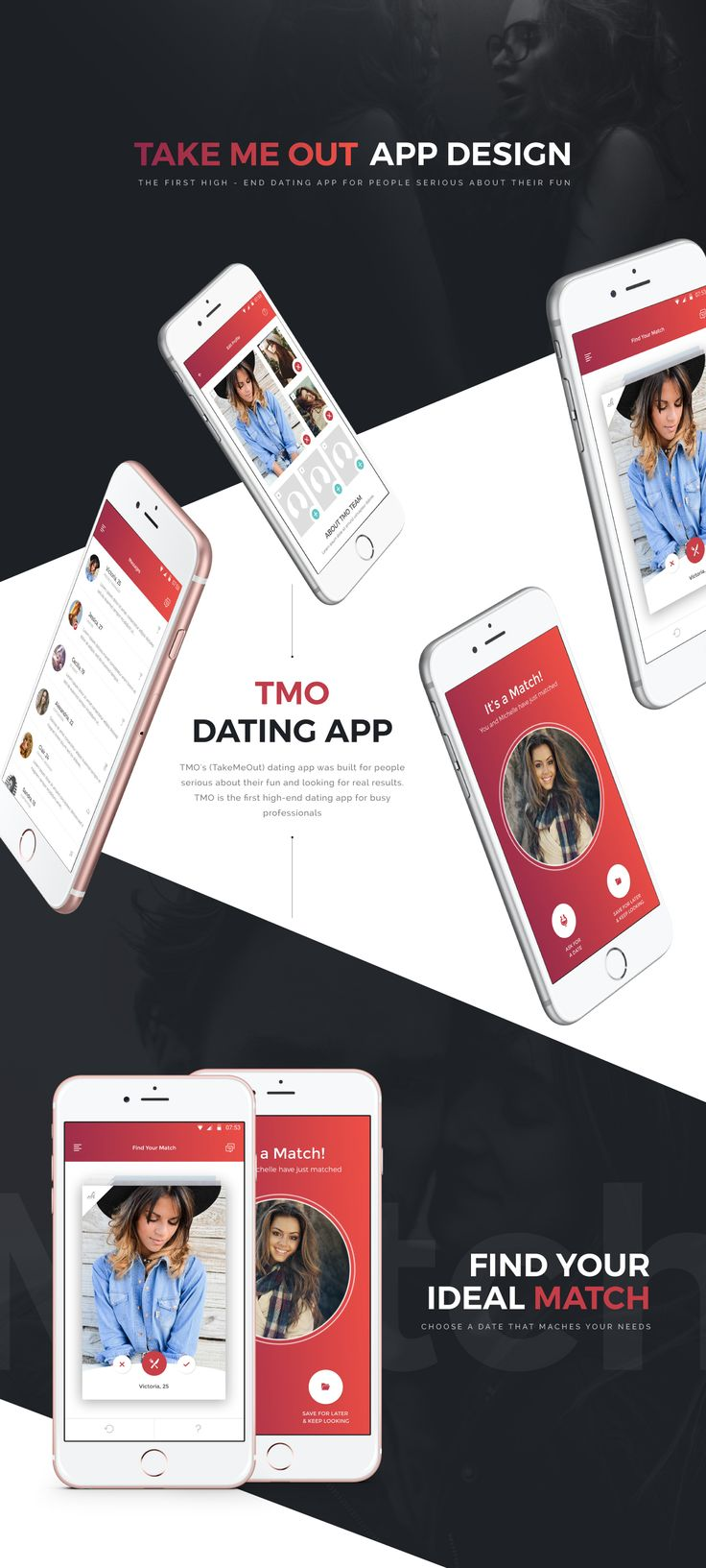CLIENT. TMO's (TakeMeOut) dating app was built for people serious about their fun and looking for real results. TMO is the first high-end dating app for busy professionals. PROBLEM. Client can generate traffic to their app page on Play Store, but once vis…