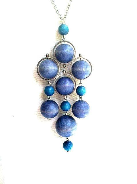 Vintage Designer Kaija Aarikka Kinetic Pendant by DejaVuVintiques, $85.00