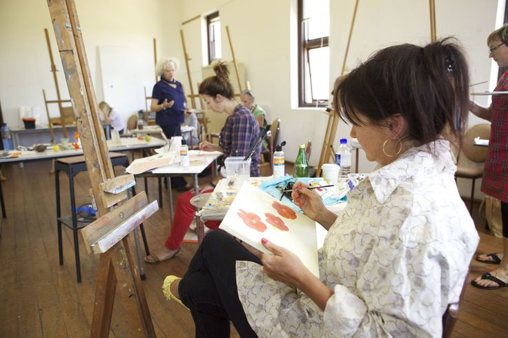 Inside one of FAC's painting studios