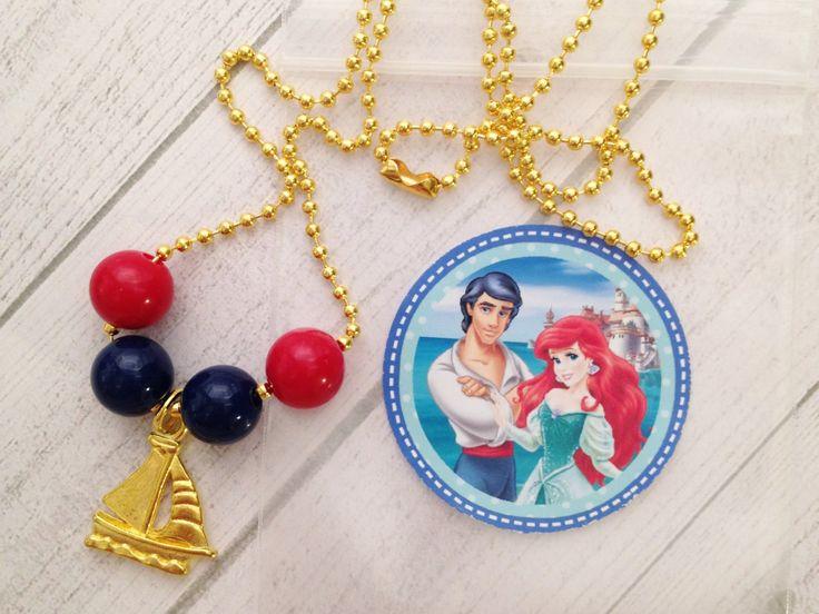6 - Prince Eric Boy Necklace Party Favor Little Mermaid Party Favor Little…