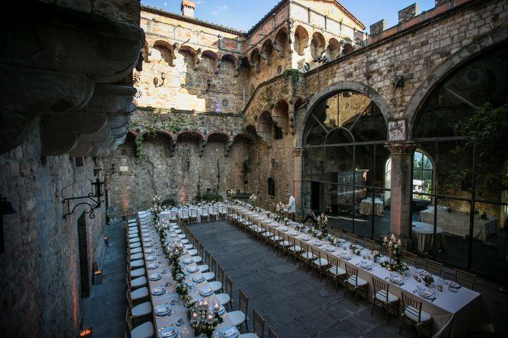 Wedding in a Mediaval Castle in Florence  #VincigliataCastle http://www.alessiabweddings.com/