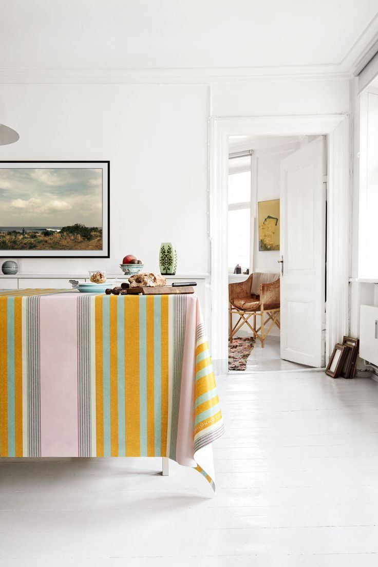 Almost Linen Oilcloth in Istanbul Stripes. Buy online.
