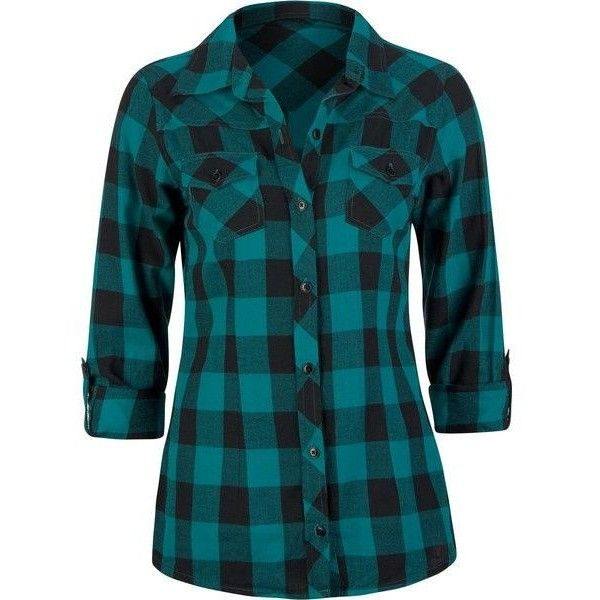 (147) women's turquoise plaid shirts images - Google Search | Polyvore... ❤ liked on Polyvore featuring tops, shirts, 10. tops., flannel, turquoise plaid shirt, tartan shirt, tartan plaid shirt, plaid top and blue shirt