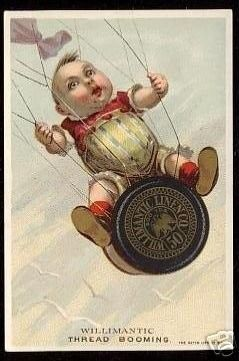 1890's Willimantic Thread Hatch trade card