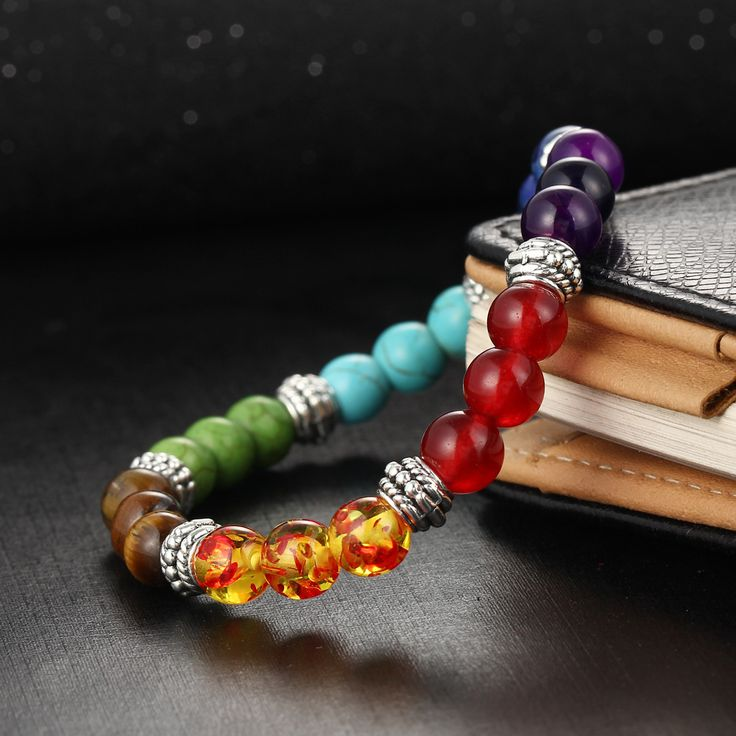 Men and Women 7 Chakra Bracelet Mixed Colors