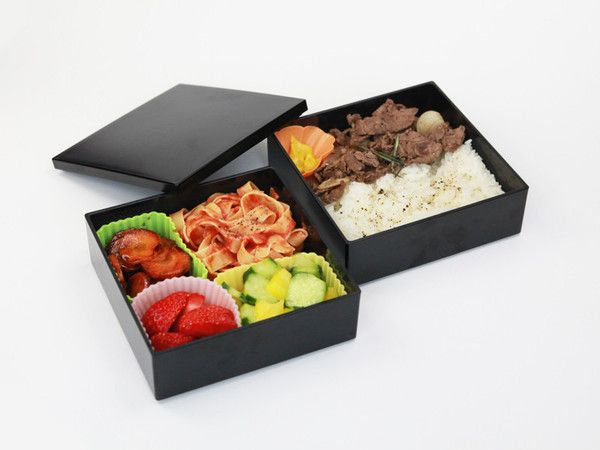 Stylish and convenient, Square Lunch Black & Black