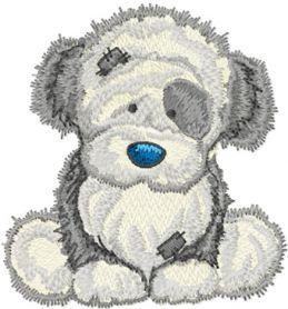 Fluffy machine embroidery design. Machine embroidery design. www.embroideres.com