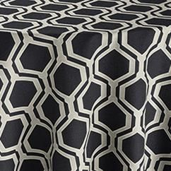 Black Honeycomb Reversed Table Linen | Tablecloth Rentals
