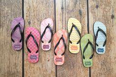 Custom Design Personalized Women's Flip Flops - http://www.thecutekiwi.com/womens-flip-flops-personalized-sandal/