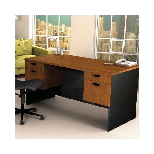 bestar hampton executive computer desktuscany brown u0026 black youu0027ll have plenty of room to spread out your papers and files on the expansive bestar