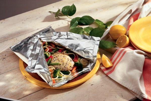 Lemon Chicken Primavera: Chicken Recipes, 30 Minute Meals, Maine Dishes, Foil Dinners, Lemon Chicken, Chicken Primavera, Foil Packets, Allrecipes Com, Chicken Breast