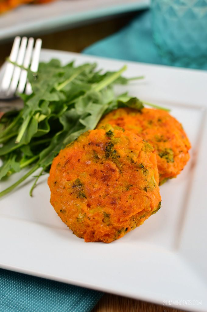 Make up a batch of these delicious Sweet Potato, Broccoli and Cheddar Patties,which are great cold or straight out of the oven.