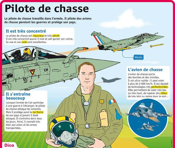 Fiche exposés : Pilote de chasse