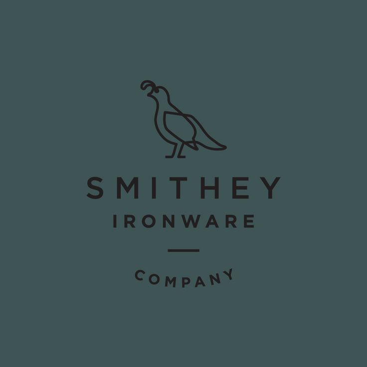 Logo design for Smithey Ironware Company by Charleston based Stitch Design Co. United States