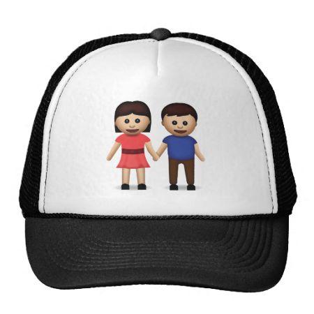 Man And Woman Holding Hands Emoji Mesh Hats