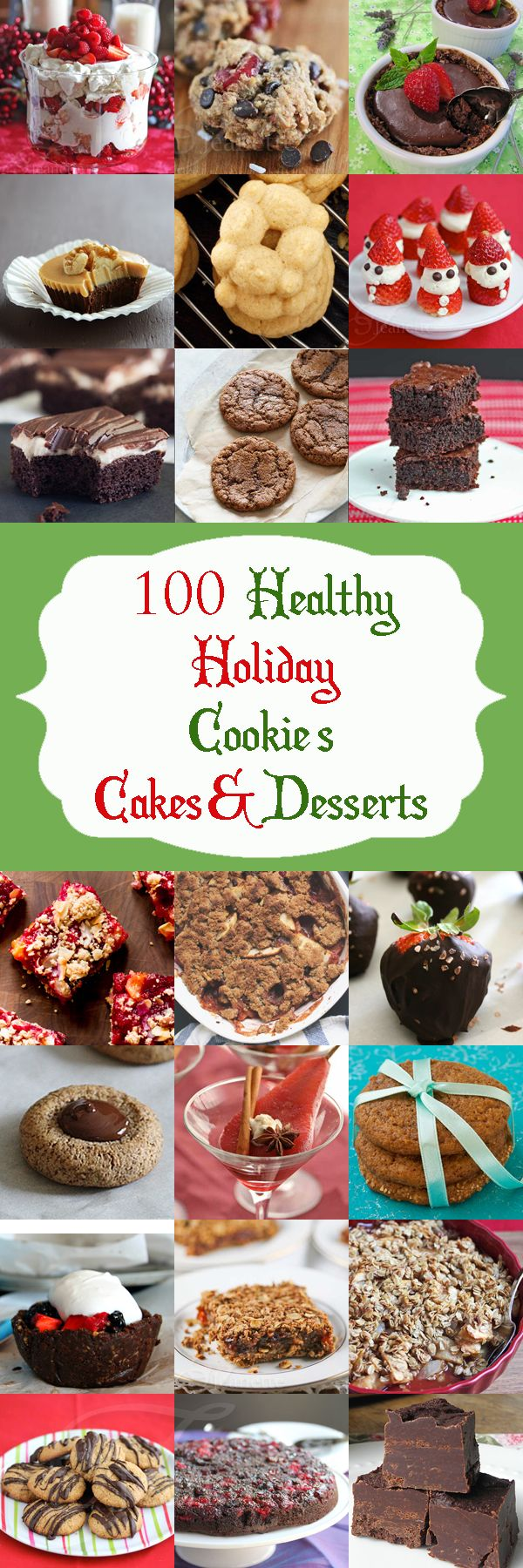 100+ Healthy Christmas and Holiday Dessert Recipes - Jeanette's Healthy Living (and Thanks for including some of my recipes!)