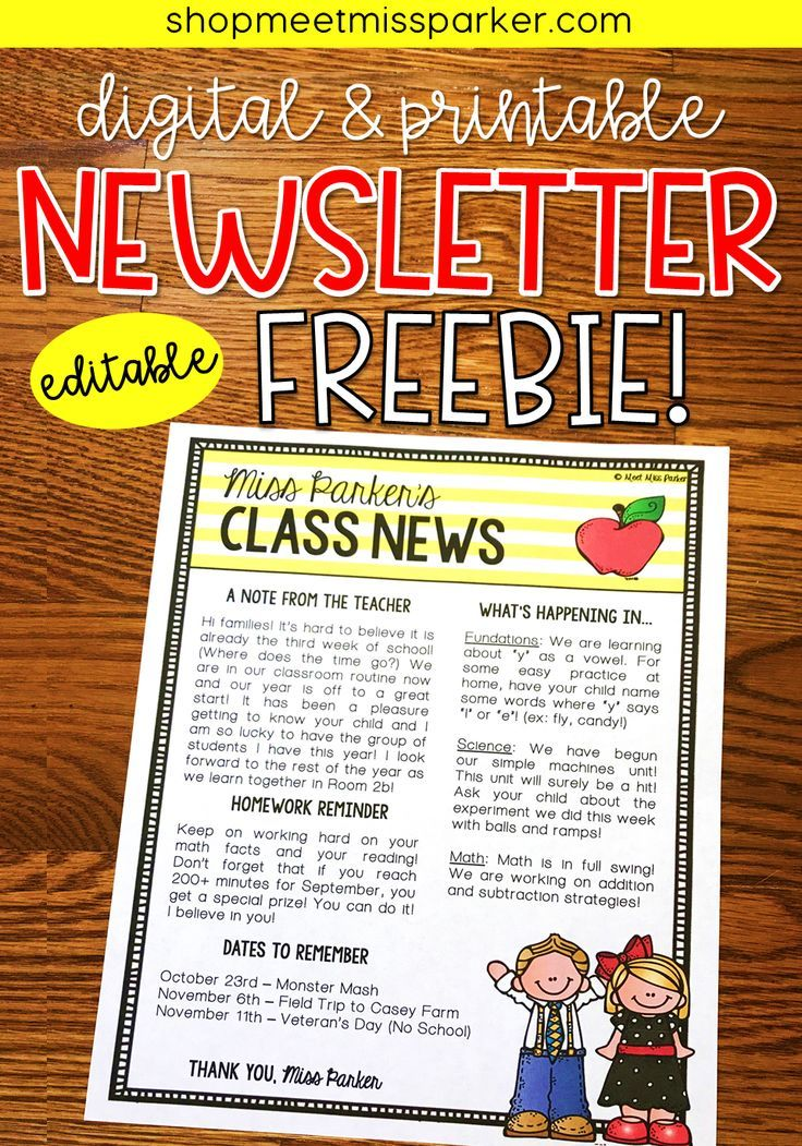 The 25+ best Preschool newsletter templates ideas on Pinterest - free business newsletter templates